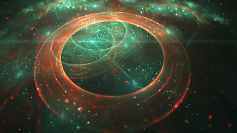Abstract colorful fractal circle in cyan color Animation