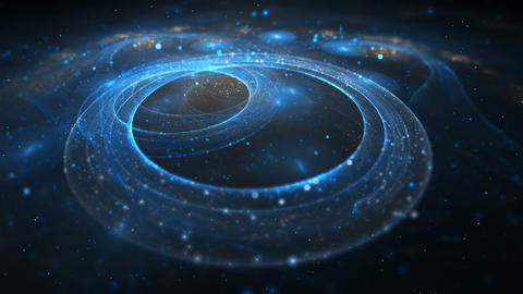 Abstract colorful fractal circle in blue Animation