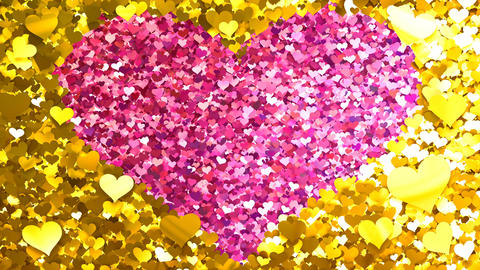 Glitter Heart Frame 2 Hh Gold 4k Animation