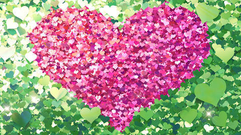 Glitter Heart Frame 2 Hh Green Flash 4k Animation
