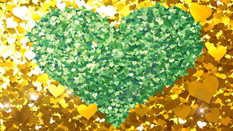 Glitter Heart Frame 2 Hh Gold Flash 4k Animation