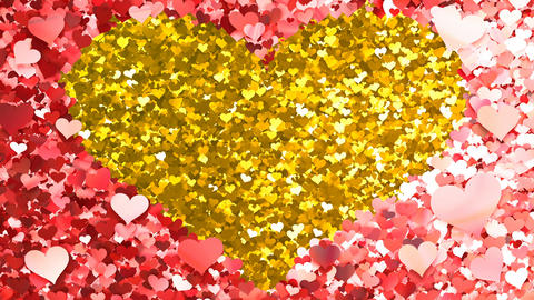 Glitter Heart Frame 2 Hh Red 4k Animation