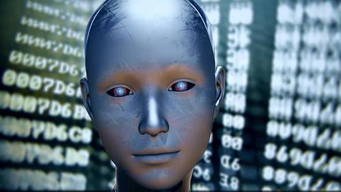 4K Android AI Digital Coding Encryption Decryption Animation