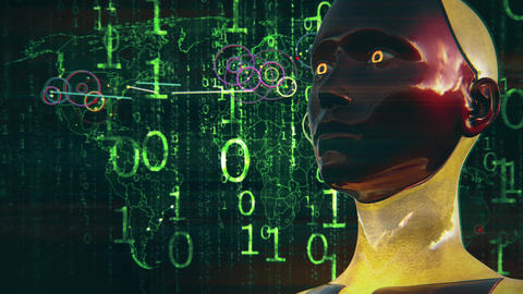 4K Artificial Intelligence High Tech Digital Hacker War Animation