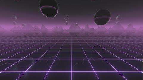 Retro Wave Digital Landscape Animación