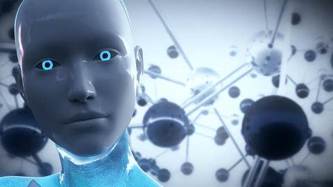 4K Artificial Intelligence AI Scientific Concept Animation