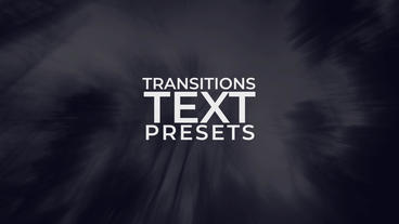 Text Transitions Presets After Effects Animation Preset
