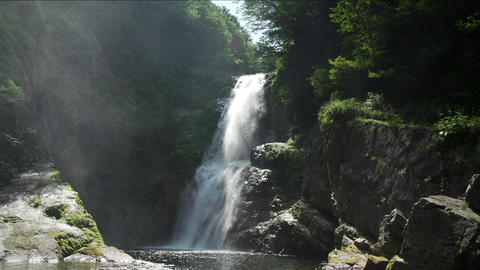 Akiu waterfall Live Action