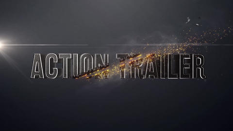 Trailer Title - Shatter Particles Explosion After Effects Template