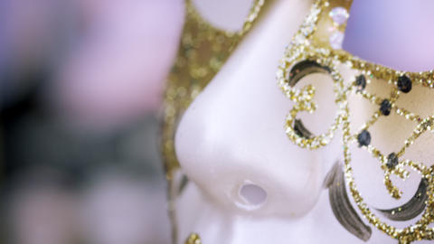 Close up shot of an artistic carnival mask Footage