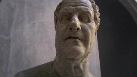 Tracking shot of a statue head Footage