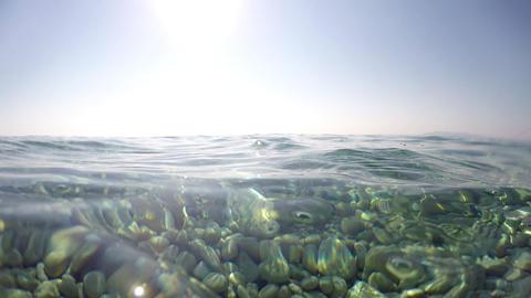 GoPro - Half Underwater POV stock footage