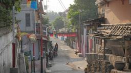 Quiet street ,Yogyakarta,Indonesia Footage