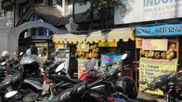 Food stalls on street,Yogyakarta,Indonesia Footage