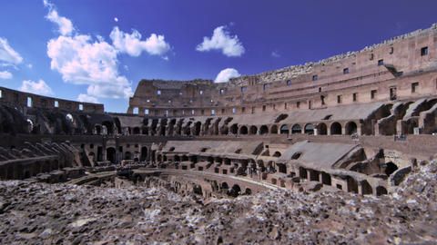 View of the Colosseum's highest wall from its interior Footage