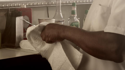 Barber cleaning supplies Footage