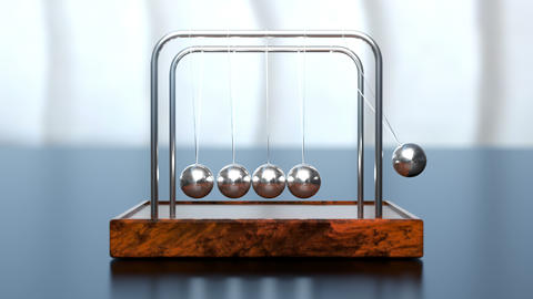 Newton's cradle office toy loop Animation