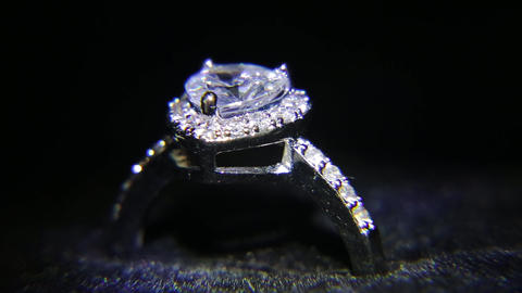 Synthetic diamonds on the jewelry 002 Footage