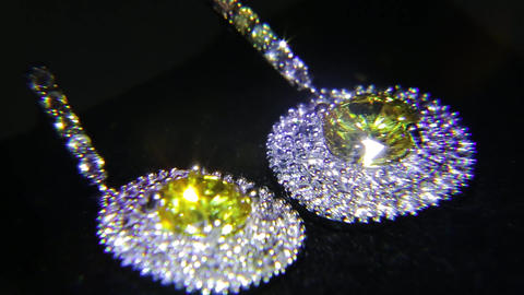 Synthetic diamonds on the jewelry 004 Footage
