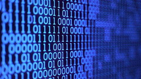 Digital Binary Code Stock Video Footage