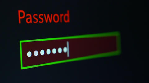 Password Entry Process Stock Video Footage