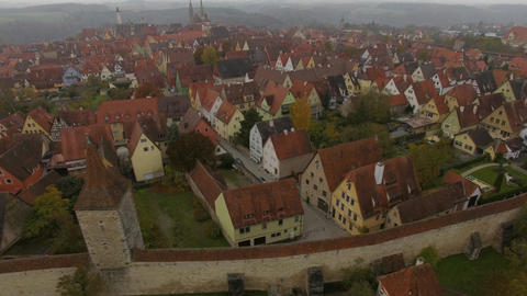 Aerial of Rothenburg ob der Tauber Archivo