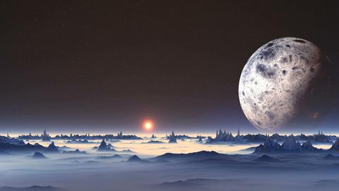 Sunrise on Alien Planet Animation