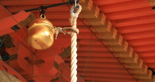 Main temple at Yasaka shrine in Higashiyama Kyoto Footage