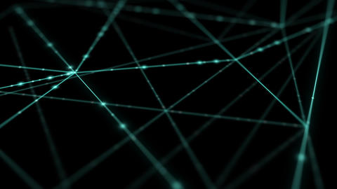 Abstract line lighting frame structure pattern wireframe polygon futuristic bokeh, digital data Animation
