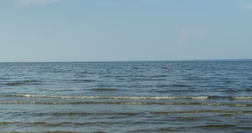 Seascape, sea and sky Footage