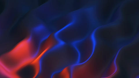 Abstract wave background, satin texture, 3D illustration Animation