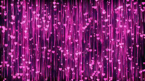 Hearts Magenta Particles Background Fotografía