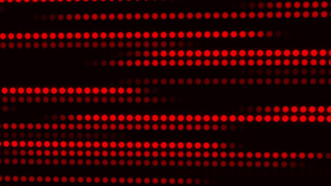 Red Glowing Digital Dots Loop Motion Background Animation