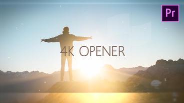 Glitch Opener 4K Premiere Proテンプレート