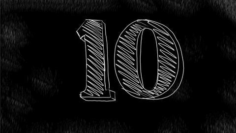 Count Down Number 10 to 0 Drawing 2D Animation Animación