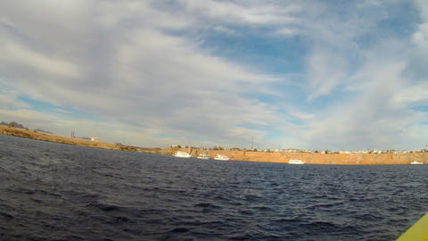 View from motorboat Footage