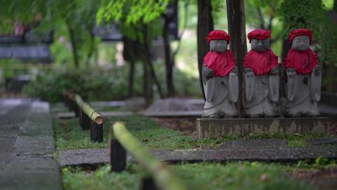 Buddha statue struck by rain Footage