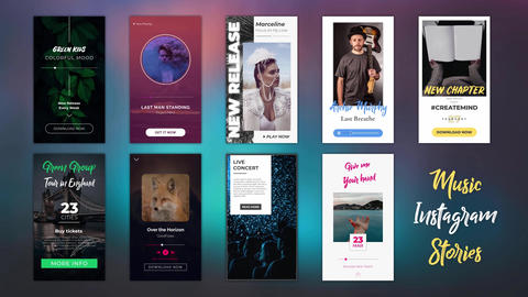 Music Instagram Stories After Effects Template