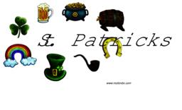 St. Patricks vector design elements. Hat, pot, horseshoe, pipe, clover, beer ベクター