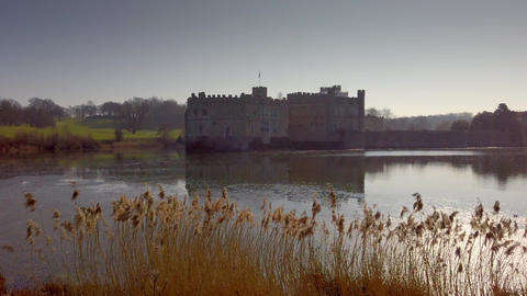 Leeds Castle is a famous landmark in England Live Action