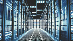 3D Futuristic abstract background Motion graphic for modern data center Live Action