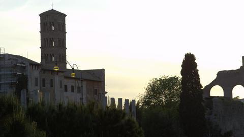 Tilt down Basilica of Constantine Footage