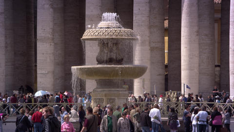 Saint Peters Fountain Footage