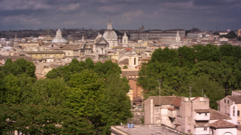 Panoramic footage of Roman skyline Footage