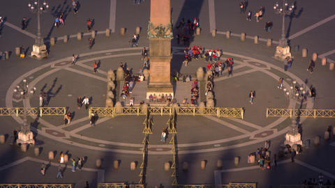 Base of obelisk in St Peter's piazza Footage