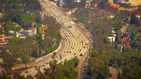 A view of the freeway from Mulholland Drive Footage