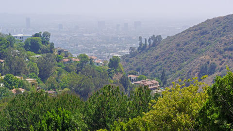 Static shot of Los Angeles from Mulholland Drive Footage