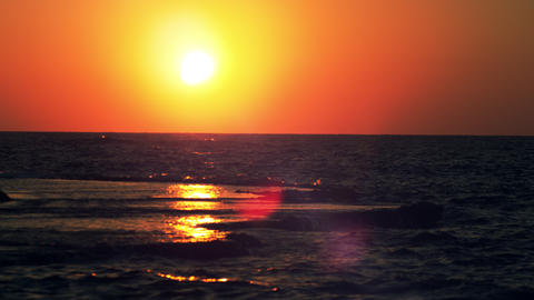 Royalty Free Stock Video Footage of the sunset at Dor Beach shot in Israel at 4k Live Action