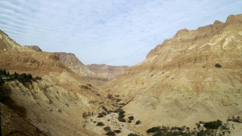 Royalty Free Stock Video Footage of a dry desert canyon shot in Israel at 4k wit Footage