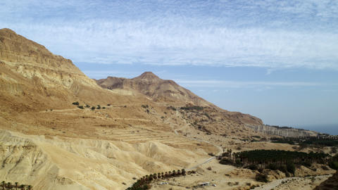 Royalty Free Stock Video Footage of desert mountains at the Dead Sea shot in Isr Footage
